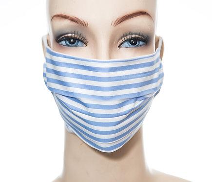 Mund Nasen Maske Baumwolle blauer Streifen 3