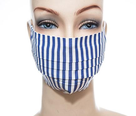 Mund Nasen Maske Baumwolle dunkelblauer Streifen 2