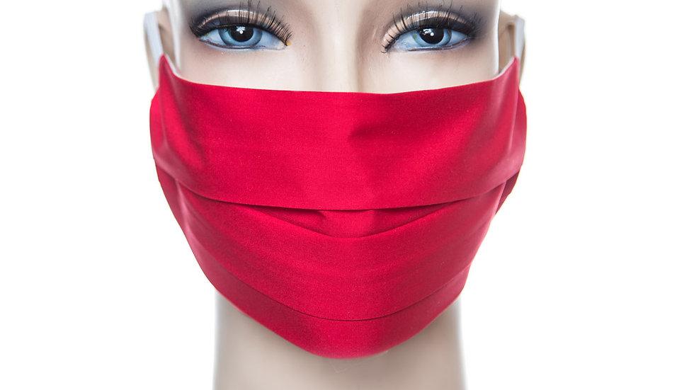 Mund Nasen Maske Baumwolle rot