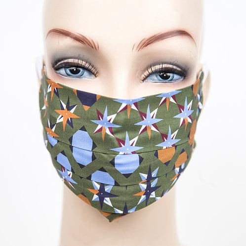 Mund Nasen Maske Baumwolle Camouflage/Sterne