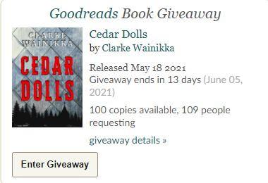 Enter the CEDAR DOLLS eBook giveaway!