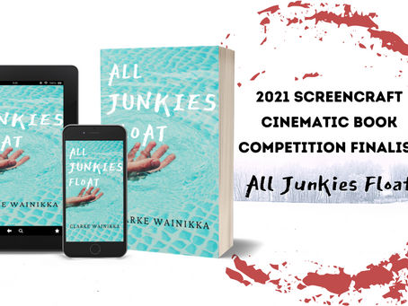 All Junkies Float named a Finalist in the 2021 Screencraft Cinematic Book Competition!