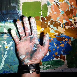 The hand of the artist. paint is not dir