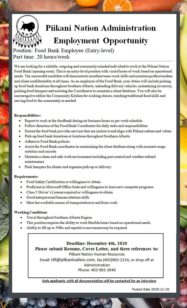 Food Bank PT Employee - Job Posting.jpg
