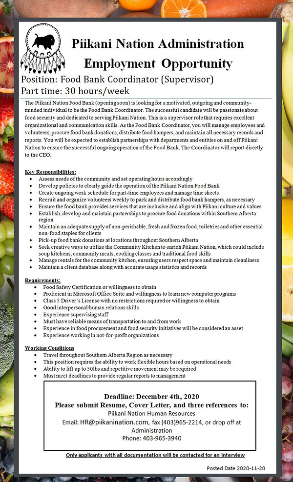 Food Bank Coordinator - Job Posting .jpg