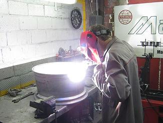 Аргонная сварка в Надим-авто, ремонт литых дисков, аргон сварка.