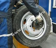 Балансировка грузового колеса