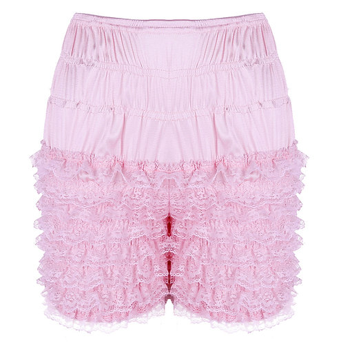 Sexy Sissy Ruffle Bloomers Shorts Lace Sissy Frilly Knickers Layered