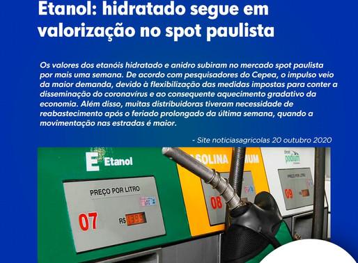 Etanol: hidratado segue em valorização no spot paulista