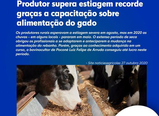 Produtor supera estiagem recorde graças a capacitação sobre alimentação do gado