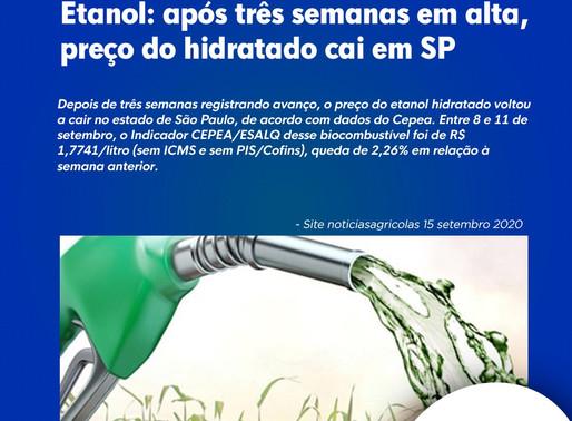Etanol: após três semanas em alta, preço do hidratado cai em SP