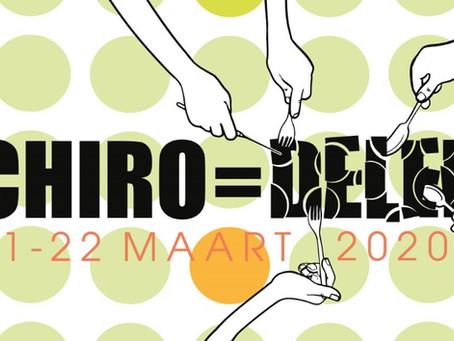 'Chiro is delen' wordt 'Chiro bedeelt'