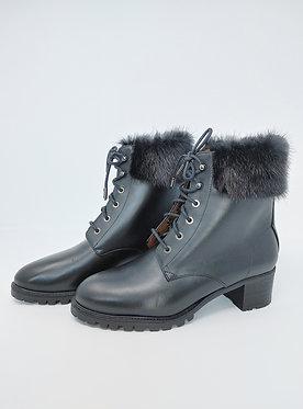 Aquazzura Heilbrunner Fur Trim Boot 38 1/2
