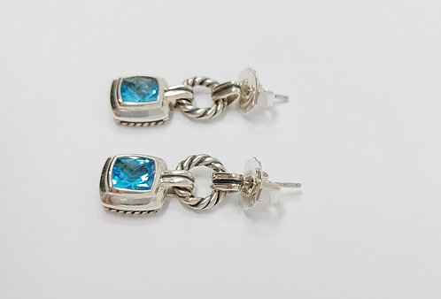 David Yurman Albion Drop Earrings Topaz