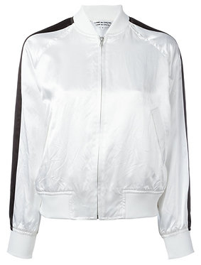 Comme des Garcons White Bomber Jacket Size Small