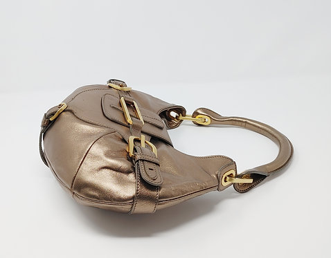Jimmy Choo Mini Tulita Hobo Bronze