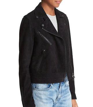 Rag + Bone Black Suede Moto Jacket 6