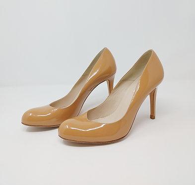 L.K. Bennett Nude Patent Court Shoe 40