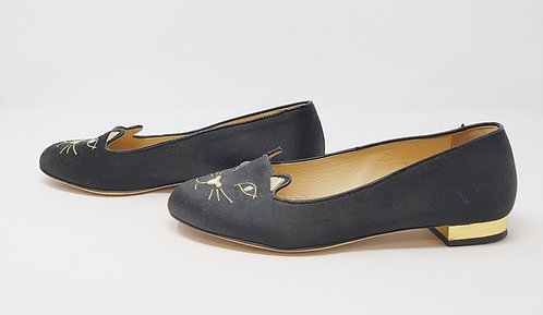 Charlotte Olympia Autographed Kitty Flat 38