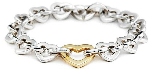 Tiffany & Co. Heart Chain Link Bracelet