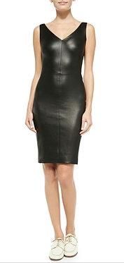 The Row Black Leather Dress 8