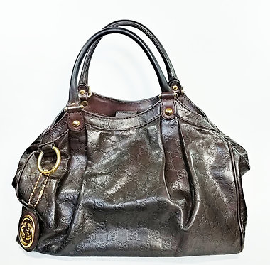Gucci Guccissima Brown Leather Bag