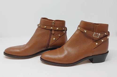 Valentino Rockstud Tan Leather Boot 40