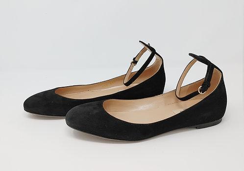 Valentino Black Suede Mary Jane Flat 36