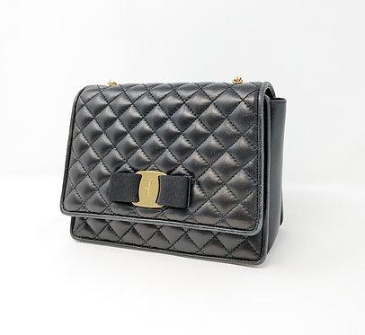 Salvatore Ferragamo Small Quilted Vara Chain Bag