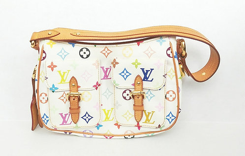 Louis Vuitton White Multicolore Monogram Lodge PM