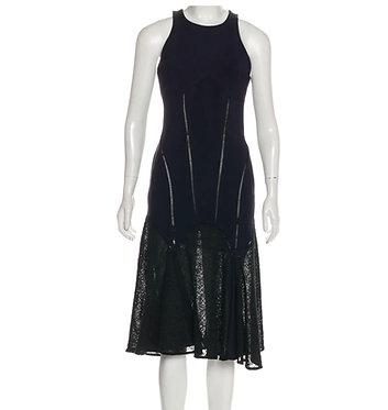 Jonathan Simkhai Sleeveless Midi Dress with Lace Bottom 4