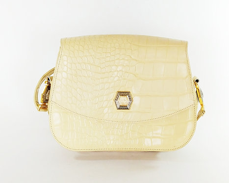 Gianni Versace Vintage Snake Embossed Bag