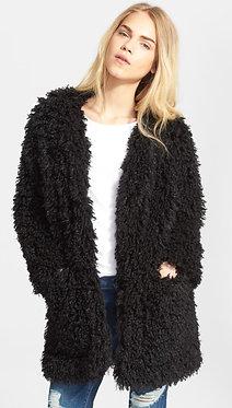 Smythe Mongolian Faux Fur Coat Small