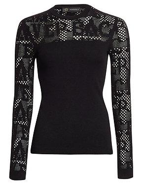Versace Mesh Logo Long Sleeve Top 6