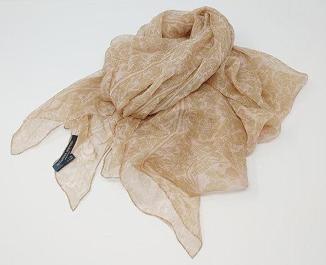 Alexander McQueen Blush/Beige Silk Skull Scarf