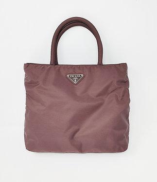 Prada Vintage Brown Tessuto Mini Top Handle Bag