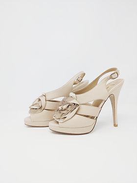 Valentino Rosette Heeled Sandal 36