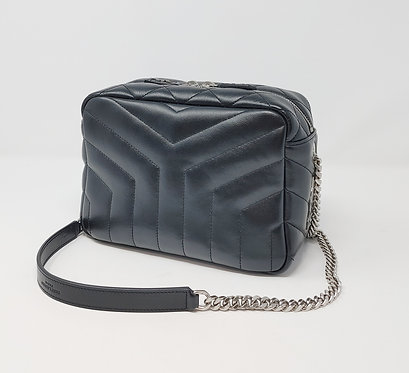 YSL Lou Lou Y Camera Bag Black