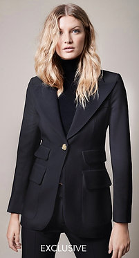 Smythe Birkin Blazer Black Gold Buttons 8