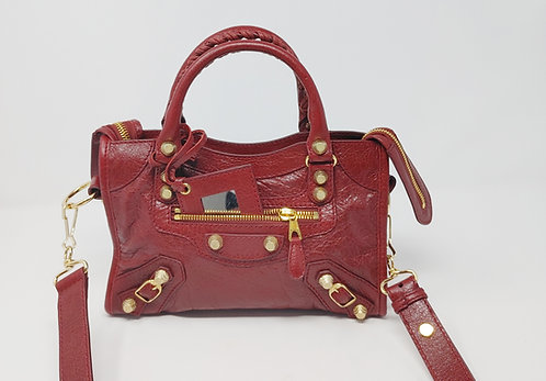 Balenciaga Mini City Bag Deep Red