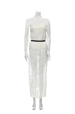 Miguelina Lace Tube Dress Small