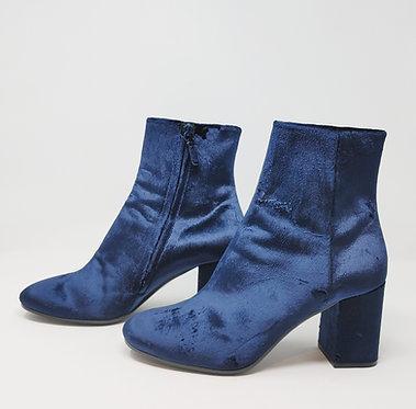 Balenciaga Blue Velvet Bootie 40