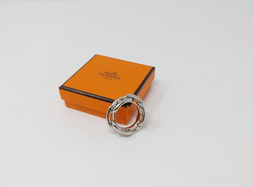 Hermes Regate Scarf Ring Palladium