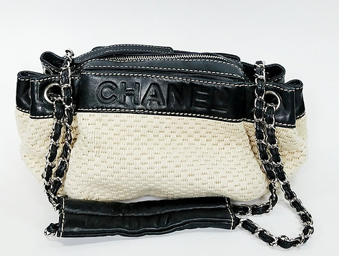 Chanel Woven Mini Chain Bag
