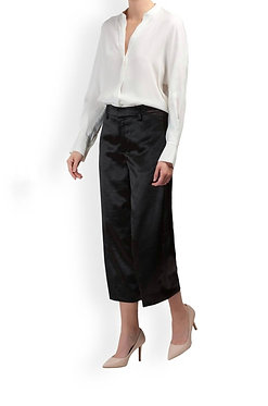 Vince Metallic Crop Wide Leg Pant Size 0
