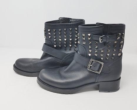 Valentino Black Rockstud Boot 40