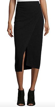 Joseph Black Wrap Effect Skirt Medium