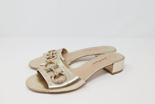 Salvatore Ferragamo Gold Sandal 9 1/2 B