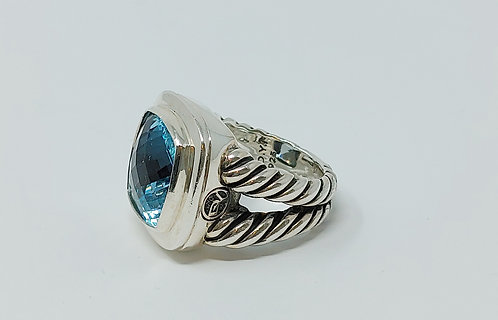David Yurman Albion Ring Topaz Size 6