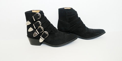 Toga Pulla Suede Four Buckle Boot 39